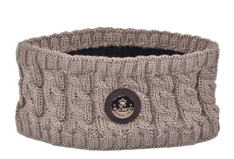 Billede af Kingsland pandebånd Karluk strikket Beige Cinder