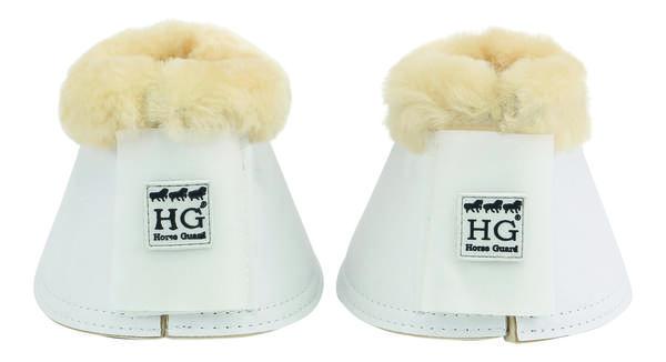 Billede af Horseguard klokker med ægte lam hvid