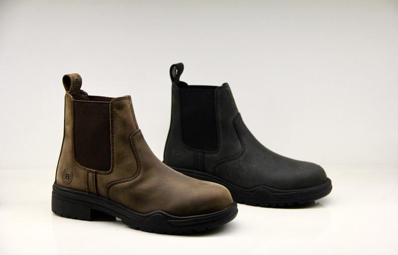 Image of   Bronco jodhpur støvler med lynlås sort