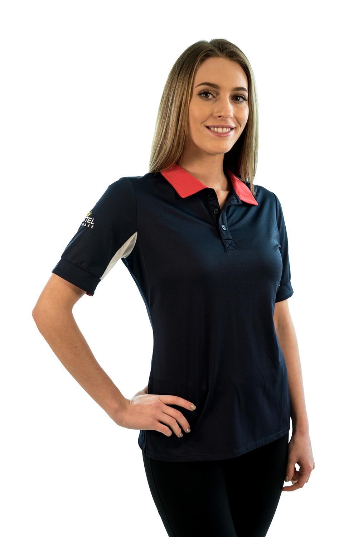 Billede af Kastel trøje kortærmet navy og rød