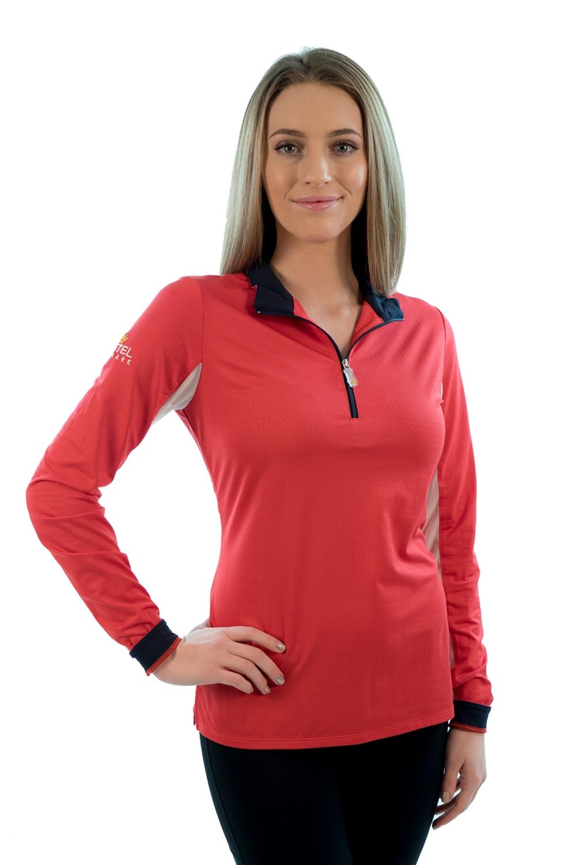 Billede af Kastel trøje rød med hvid og navy trim