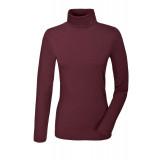 Rullekrave trøje fra pikeur med logo på halsen og i farven Bordeaux