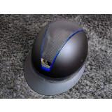 Samshield ridehjelm shadowmatt Miss Shield shimmer blå front