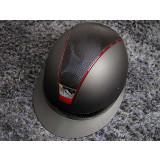 Samshield ridehjelm shadowmatt Miss Shield shimmer sort med rød kant