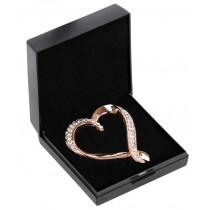 SD Design Plastron nål i hjerte Rose gold
