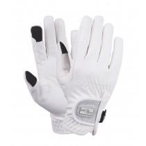 Fair play handsker hvid med glimmer