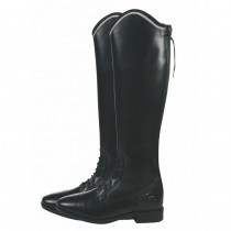 billige læderstøvler til voksne i sort modellen hedder Valencia