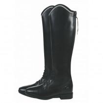 billige læderstøvler til voksne i sort modellen hedder Valencia med ekstra vidde