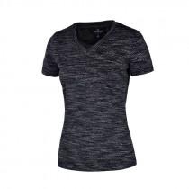 Kingsland t-shirt femmie charcoal melange bagside