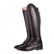 HKM læderstøvler Valencia hel sort børn
