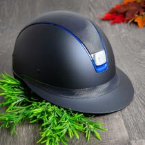 Samshield ridehjelm shadowmatt Miss Shield shimmer blå set fra siden