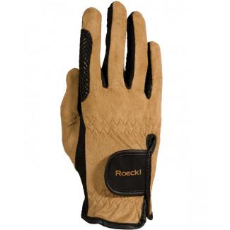 Roeckl Handsker med lysebrun overflade