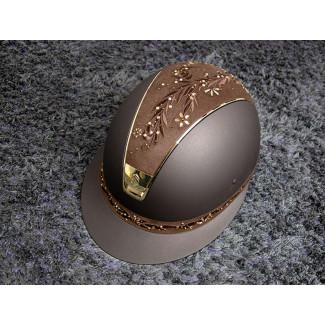 Samshield ridehjelm shadowmatt Miss Shield Flower swarovski jewerly brun