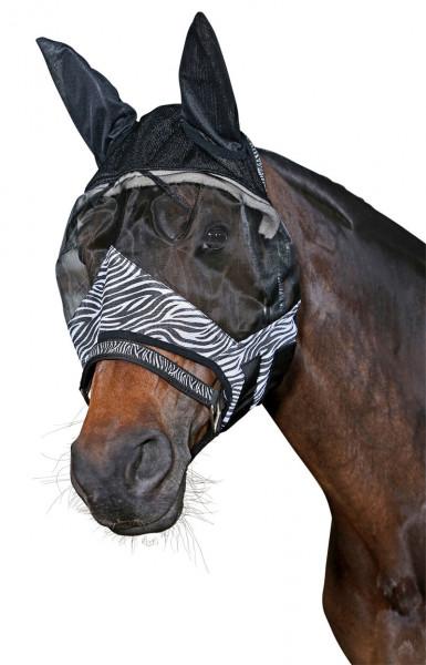 HorseGuard fluemaske zebra ensfarvet sort
