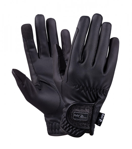 Fair play handsker sort med glimmer