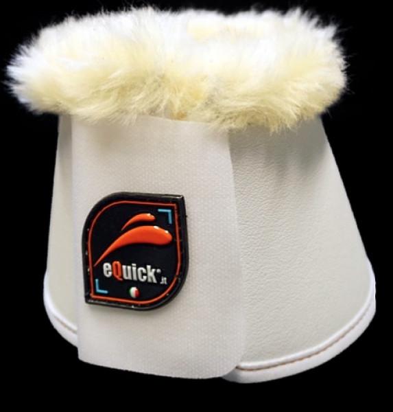 Equick klokker med fake lam hvid