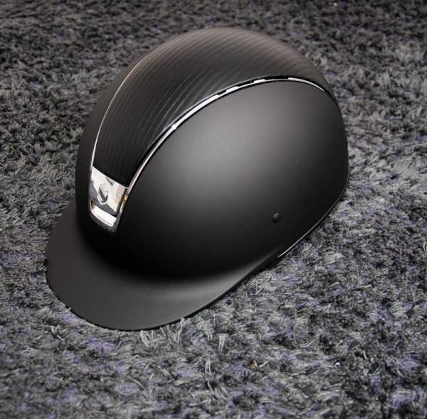 Samshield ridehjelm Shadowmatt sort med lædertop