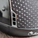 Samshield ridehjelm Miss Shield Glossy sort med sparkling top og bånd  detalje
