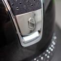 Samshield ridehjelm Miss Shield Glossy sort med sparkling top og bånd logo