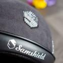 Samshield ridehjelm Miss Shield Shadowmat sort med alcantara top logo