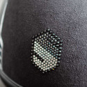 Samshield ridehjelm Miss Shield Shadowmat sort med alcantara top logo i bag