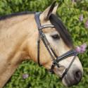 SD design Belissimo trense i sort med sort forring på hest