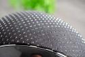 Samshield ridehjelm Miss Shield Glossy sort med sparkling top og bånd top