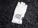 Fair play handsker med glimmer hvid