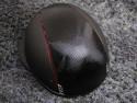Samshield ridehjelm shadowmatt Miss Shield shimmer sort med rød kant bagfra