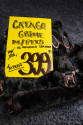 grime sort med sort fake lam fra Catago