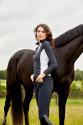 Catago softshell ridebukser sort med hest