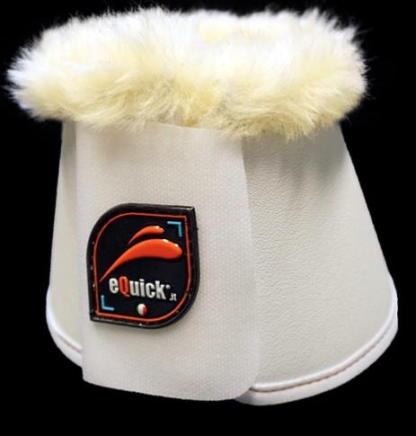 Image of   Equick klokker med fake lam hvid