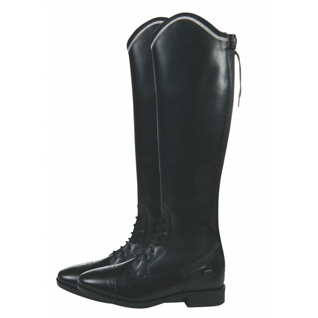 Image of   HKM læderridestøvler sort Valencia med ekstra vidde