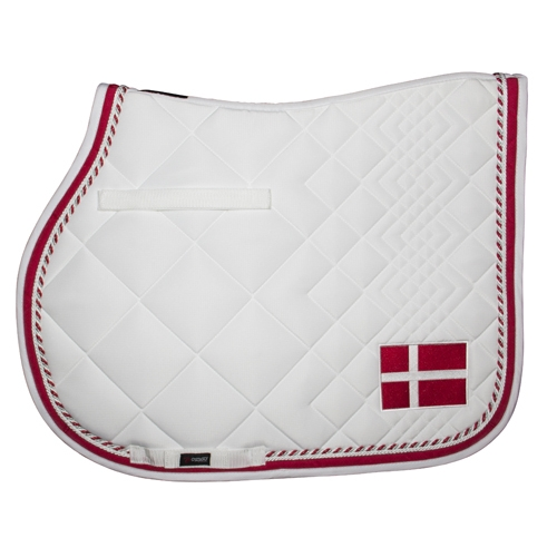 Image of   Catago underlag Diamond Hvid med flag