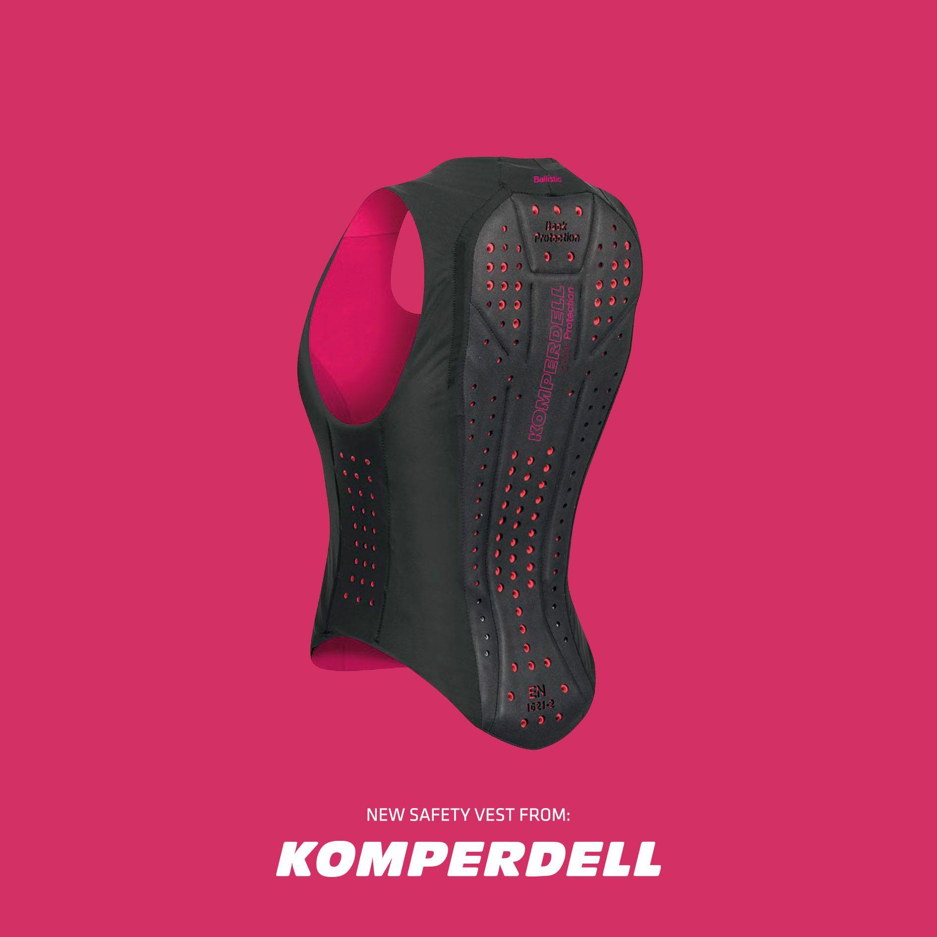 Image of   Komperdell sikkerheds vest Level 2 sort og pink