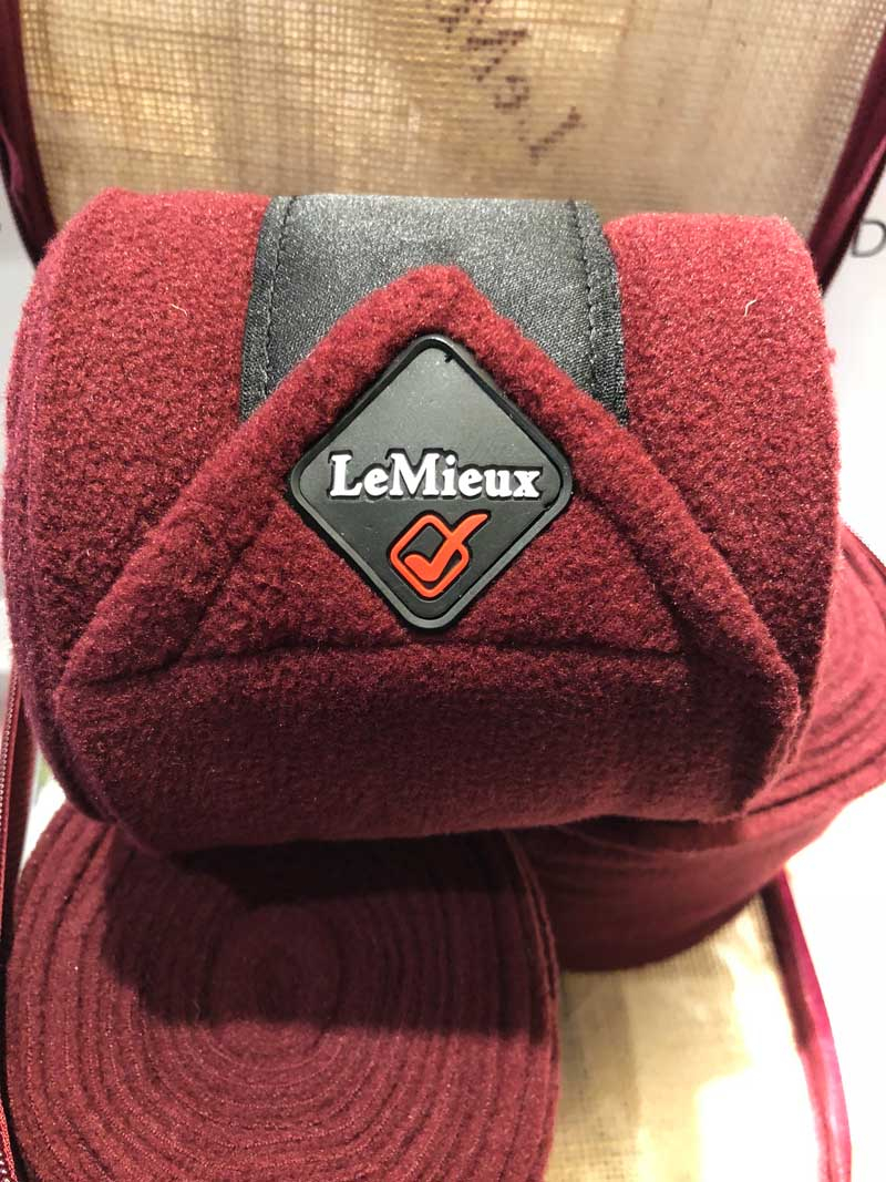 efad359268ed Lemieux Polo fleece bandager Burgundy
