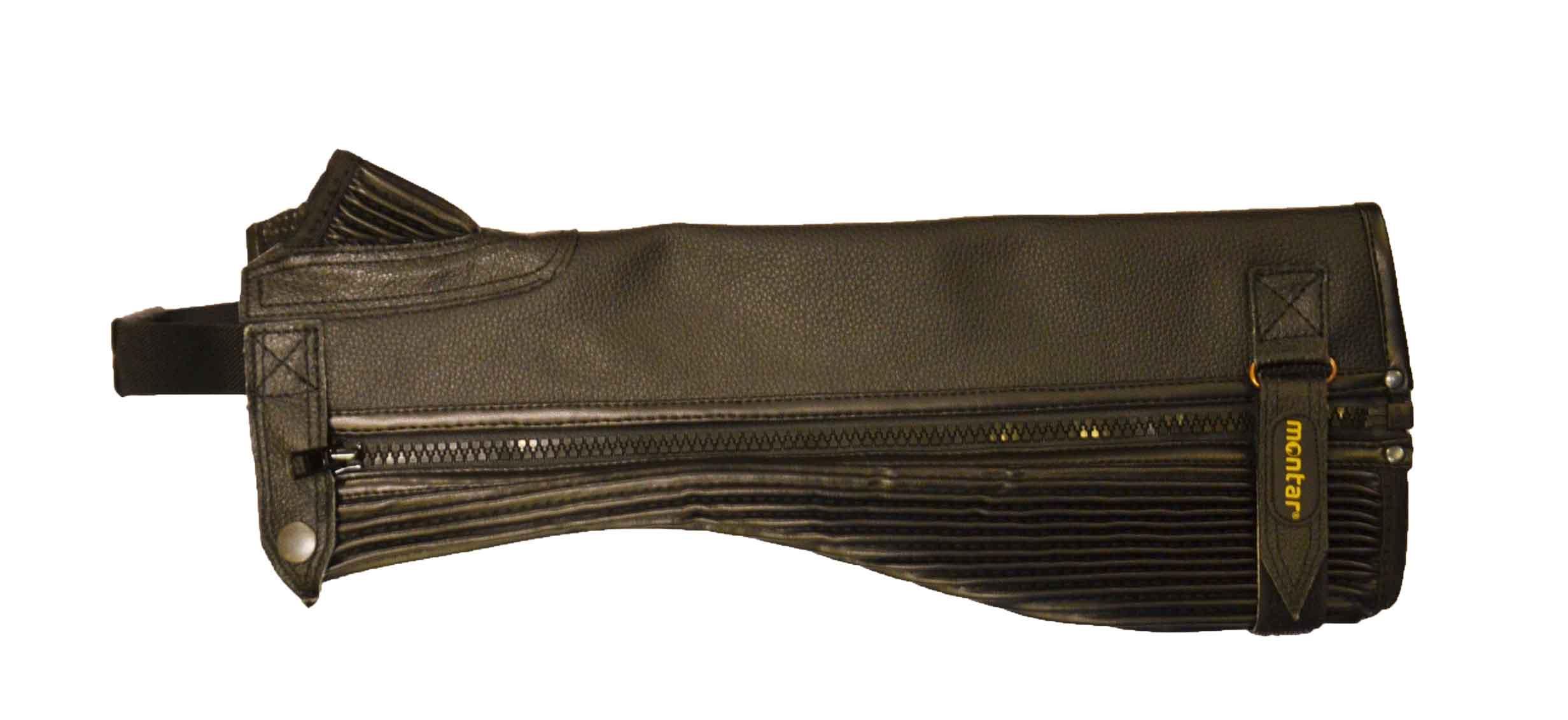 Montar læder Leggins i sort