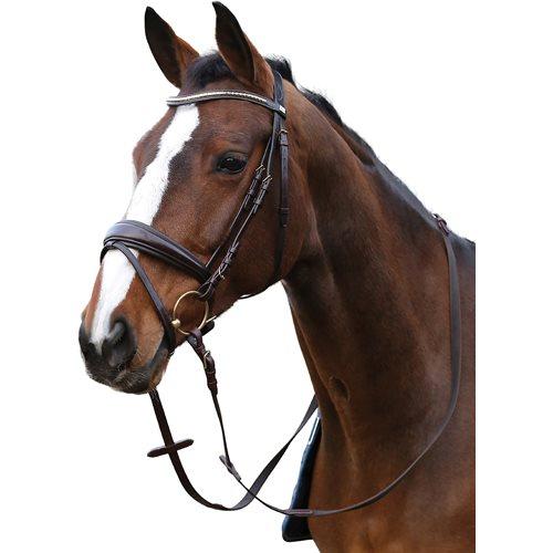 Image of   Horseguard trense sort med nitter i pandbånd