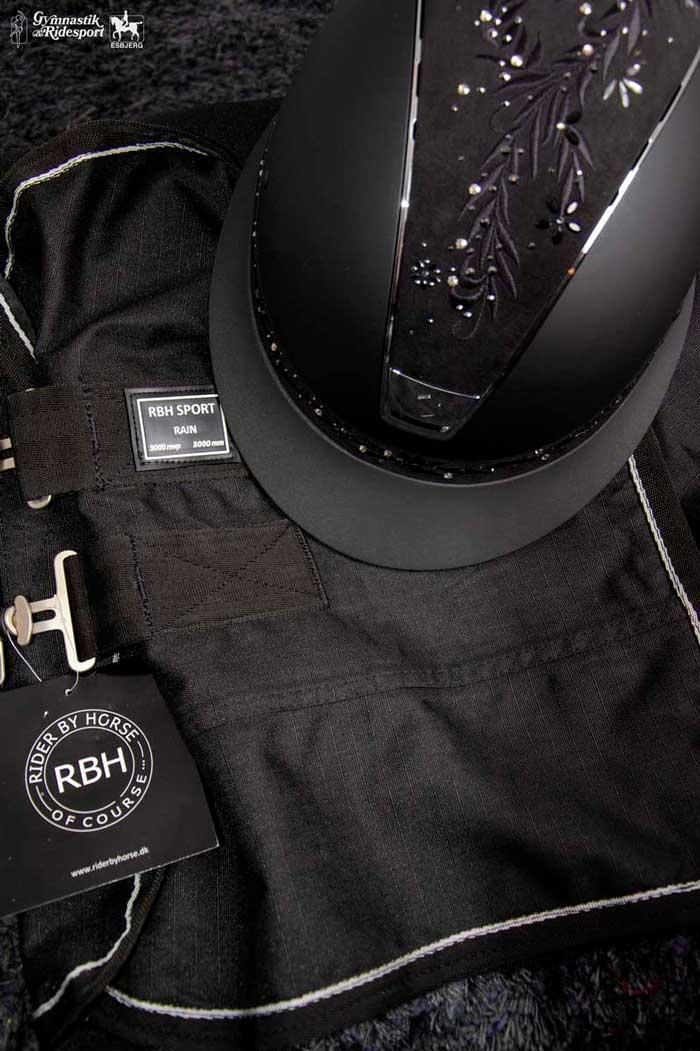RBH dækken i sort fra Gymnastik og Ridesport