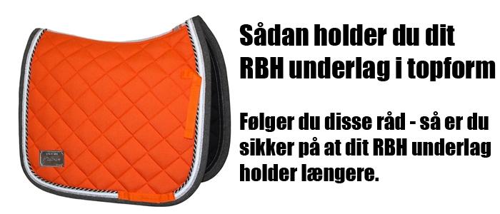 Sådan holder du dit RBH underlag i topform