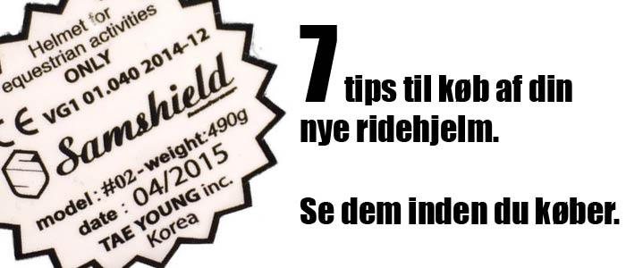 7 tips til din nye ridehjelm