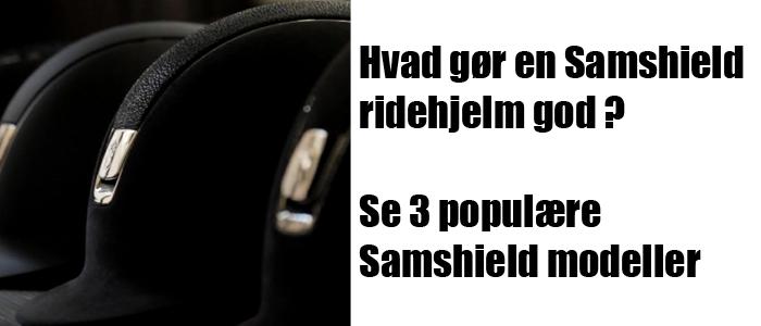 3 populære Samshield ridehjelme