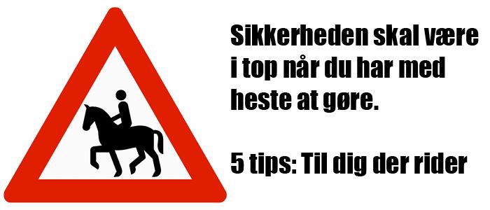 Sikkerheden skal være i top når du har med heste af gøre